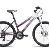 "Bicicleta dama CTM Suzzy 2.0, 2016, cadru 18"", negru mat / roz Cod Produs: 037.45"
