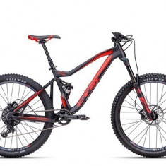 Biciclete Full Suspension CTM Scroll Xpert, 2016, cadru MD, negru mat / rosu Cod Produs: 035.04 - Mountain Bike