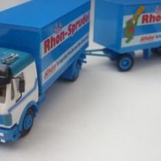 H9. Camion cu remorca, Mercedes, scara 1/87 Herpa - Macheta auto