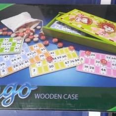 Joc Bingo in cutie de lemn - nou, sigilat. Pentru 2 pana la 8 jucatori - Jocuri Logica si inteligenta
