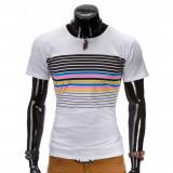 Tricou barbati - 2 culori, Marime: S, M, L, XL, XXL, Culoare: Alb, Albastru, Maneca scurta, Bumbac