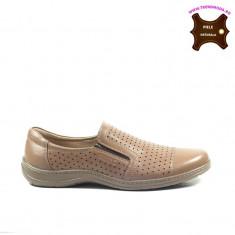 Pantofi barbati piele naturala OTTER maron (Marime: 40)