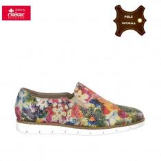 Pantofi dama piele naturala RIEKER multicolor (Marime: 36) - Pantof dama
