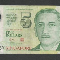 SINGAPORE 5 DOLARI DOLLARS 2007 [1] P-47a, Polymer - bancnota asia
