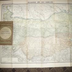 Harta Bulgariei si Rumelia de Est -Flemming Generalkarten, inceput sec.XX