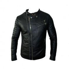 Geaca Barbati Zara David Beckham Jappan Casual Cod Produs 9135, Marime: L, XL, Culoare: Negru, Piele
