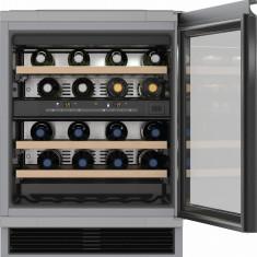 Vitrina de vinuri incorporabila Miele KWT 6321, 34 sticle, Clasa B, H 82 cm, Inox - Vitrina Frigorifica