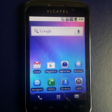 "Alcatel OT-991 Orange Ecran Mare 4"" Camera 3Mpx Blitz Led Radio Android 2 Ginger - Telefon Alcatel, Negru"