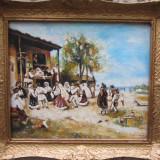 PICTURA HORA DE LA ANINOASA SEMNAT CIMPOESU. - Pictor roman, Istorice, Ulei, Realism