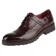 Pantofi din piele barbatesti Brogue-Oxford COD: BROG-1 *** NEW COLLECTION *** - Pantofi barbati, Marime: 38, 39, 40, 41, 42, 43, 44, Culoare: Din imagine, Piele naturala