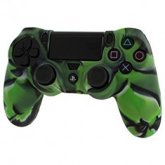 Pro Soft Silicone Protective Cover With Ribbed Handle Grip Camo Green Ps4 - Consola PlayStation