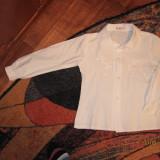 Camasa fete scoala cam 8 ani, Marime: One size, Culoare: Alb