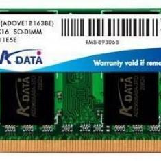 KIT MEMORIE RAM 4GB (2x2GB) A-DATA 2RX8 PC2-6400s-666-12 PENTRU LAPTOP - Memorie RAM laptop
