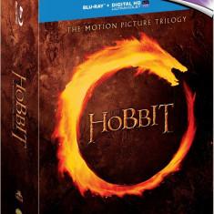 Film - Hobbit Trilogy Theatrical [Blu-Ray 6 Discuri + UV Copy], Release UK Orig - Film Colectie warner bros. pictures, Engleza