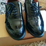 Pantofi oxford Benaza, piele - Pantofi barbati, Marime: 37, Piele naturala, Negru