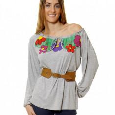 Bluza IE Colors Gri Melange - Bluza dama, Marime: M, L, XL