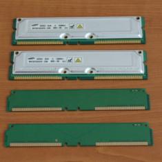 Kit 256MB Memorie RIMM Rambus PC 800 ( 2 x 128MB) si terminatoare - Memorie RAM Samsung, Altul, 800 mhz, Dual channel