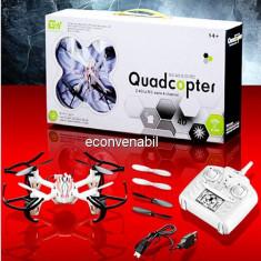 Drona Quadcopter Mini RC GWX01 4 Canale 6 Axe Iluminata - Elicopter de jucarie