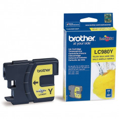 Cartus cerneala Brother LC980Y 260 pag yellow - Cartus imprimanta
