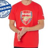 Tricou barbat Puma Arsenal - tricou original - Tricou barbati Puma, Marime: S, Culoare: Rosu, Maneca scurta, Bumbac