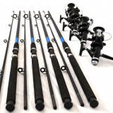 Set de 4 lansete OXYGEN SELECT 2.7 m actiune 60-120g cu 4 Mulinete Long Cast - Lanseta