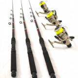 Set pescar compus din 3 lansete 3, 6 m cu 3 mulinete LC540 si FIR - Lanseta