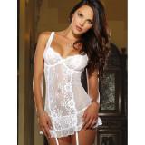 Babydoll Alb SR70100 - Lenjerie sexy dama