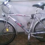 BICICLETA EXCEPTIONALA DHS - cadru aluminiu, multiple imbunatatiri, PRACTIC NOUA - Bicicleta de oras DHS, 26 inch, Numar viteze: 7