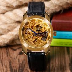 Ceas skeleton Winner automatic, ceas de mana, ceas nou, auriu - Ceas barbatesc, Mecanic-Automatic