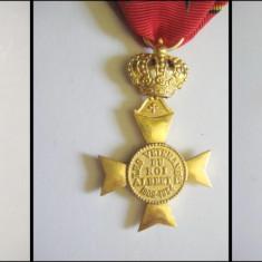 Decoratii vechi Regale Veterani-Progres+Insigna Pompieri Belgia, alama aurita. - Decoratie