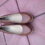 Pantofi cu platforma - Pantof dama, Marime: 40, Culoare: Maro
