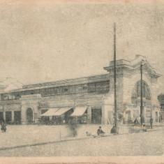 Carte postala Pitesti - Hala - interbelica, circulata, stare acceptabila - Carte Postala Muntenia dupa 1918, Printata
