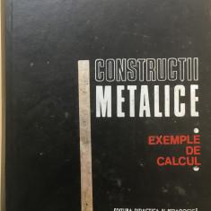 CONSTRUCTII METALICE. EXEMPLE DE CALCUL - Dan Mateescu, Rosu, Caraba - Carti Constructii, Didactica si Pedagogica