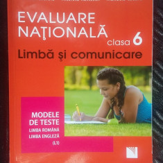 EVALUAREA NATIONALA CLASA VI A, LIMBA SI COMUNICARE - CHEROIU, CADARU - Carte Teste Nationale niculescu