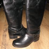 LICHIDARE STOC! Superbe cizme dama NOI piele integral model deosebit Sz 37 !