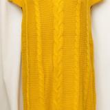 Rochie tricotata / Sarafan de culoare mustar, marime 40, noua