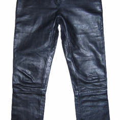 Pantaloni dama, Lungi, Piele - PANTALONI PIELE NATURALA - (MARIME: 32) - Talie = 80 CM, Lungime = 110 CM