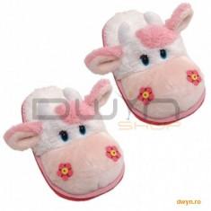 Incaltaminte Copii - Friendlies Plush Papuci de casa din plus 32-34foarte pufosi, model Vacuta