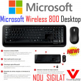 ► NOU KIT mouse+tastatura Microsoft wireless Desktop 800 _ mini USB receiver