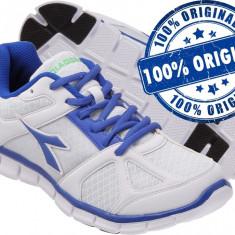 Adidasi barbat Diadora Hawk - adidasi originali - running - adidasi alergare - Adidasi barbati Diadora, Marime: 42, 44, 44.5, Culoare: Alb, Textil