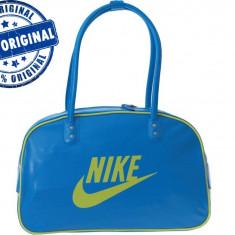 Geanta Nike Heritage - geanta originala - Geanta Dama Nike, Culoare: Albastru, Marime: Masura unica, Geanta umar manere scurte