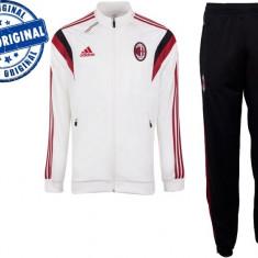 Trening barbati Adidas, Poliester - Trening barbat Adidas AC Milan - trening original - pantaloni conici