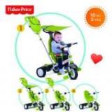 Tricicleta 3 in 1 Charisma Verde - Tricicleta copii