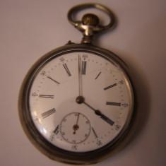 Ceas de buzunar - CEAS VECHI DE BUZUNAR -SWISS MADE-ANCRE SPIRAL BREGUET-2 PLATEAUX-ARGINT-0, 800.