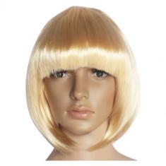Peruca Dama - Peruca Mesa Blond Blonda Par Artificial Scurt 25cm Cosplay Adult Dama