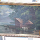 Tablou, Peisaje, Ulei, Realism - Ulei pe panza groasa semnat Marselek