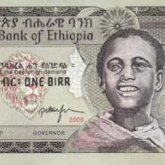 Etiopia 1 Birr EE 2000 / AD 2008 P-46e UNC !!! - bancnota africa