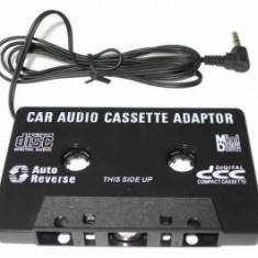 CD Player MP3 auto - CASETA ADAPTOARE AUTO CU MUFA JACK PENTRU CASETOFON, MP3, TELEFON, DVD