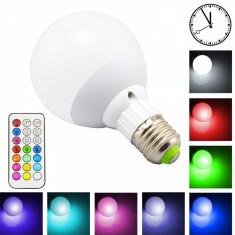 Bec LED RGB telecomanda lumina ambientala colorata 10W