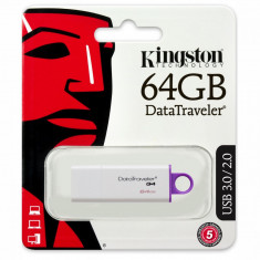 Memorie USB Kingston DataTraveler DTIG4, 64GB, USB 3.0, Alb-Violet - Stick USB
